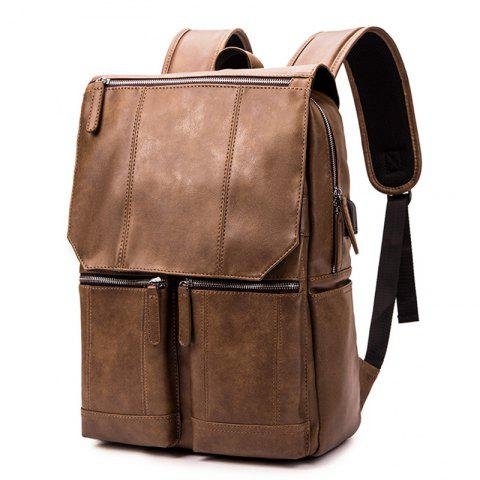Men Retro Charging Multi-function Notebook Travelling Backpack 1360ac071f