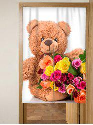 Flower Bear Door Curtain -