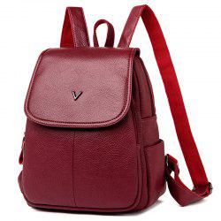 Shengtong3006 Casual Fashion Solid Color Lychee Ladies Backpack -