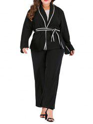Women's Plus Size Long-sleeved Solid Color Coat -