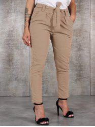 Fashion Wild Waist Casual Pants with Belt -