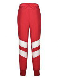 Women's Stitching Contrast Sports Casual Pants -