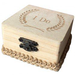 JM00281 Wooden I Do Square Ring Box -