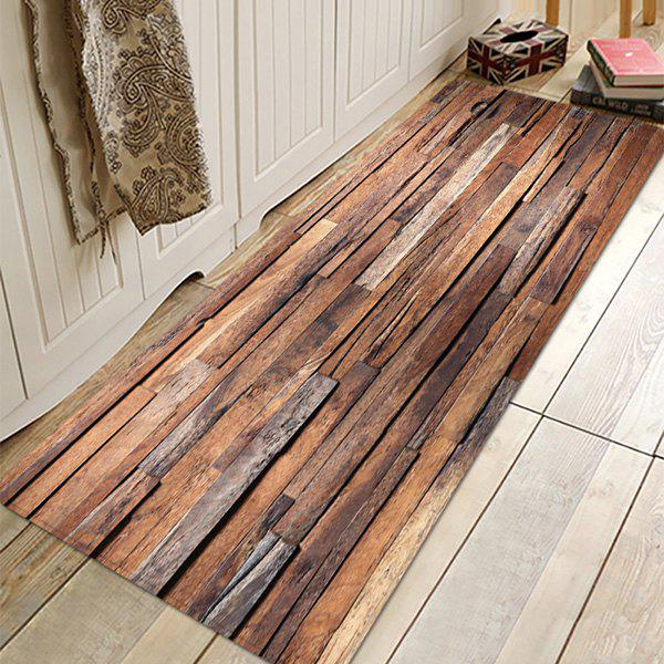 Outfit Wood Grain Absorbent Non-slip Floor Mat for Living Room Bathroom Kitchen