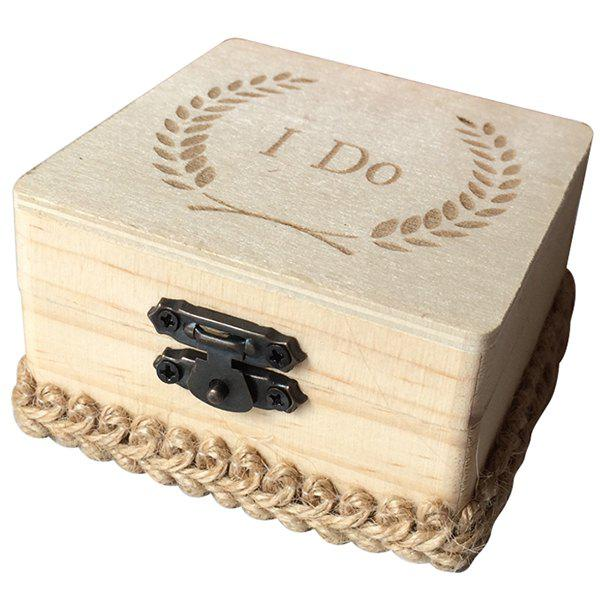 Latest JM00281 Wooden I Do Square Ring Box