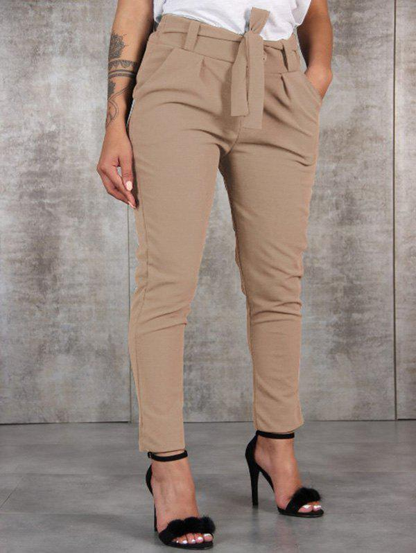 Chic Fashion Wild Waist Casual Pants with Belt