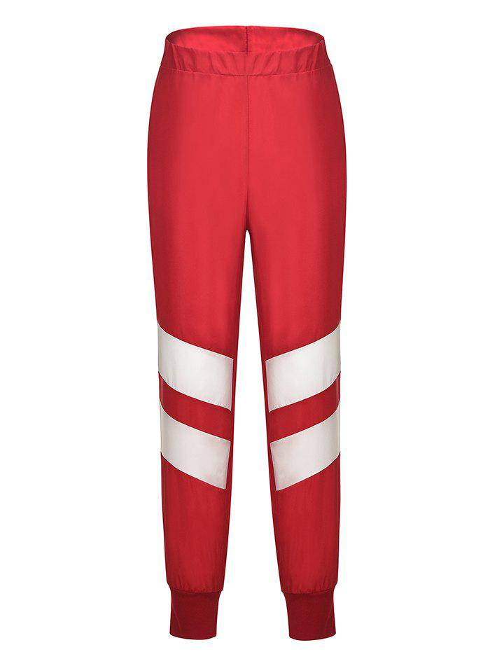 Fancy Women's Stitching Contrast Sports Casual Pants