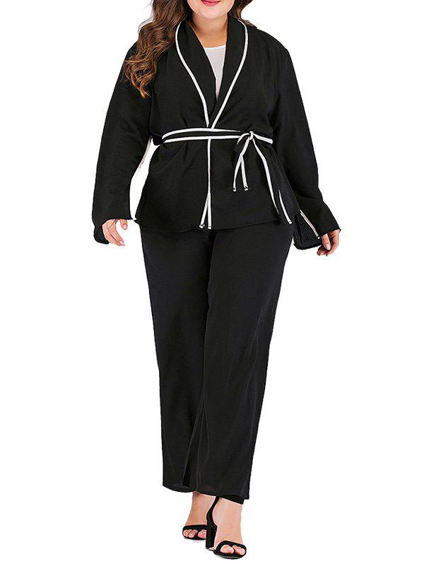 Shops Women's Plus Size Long-sleeved Solid Color Coat