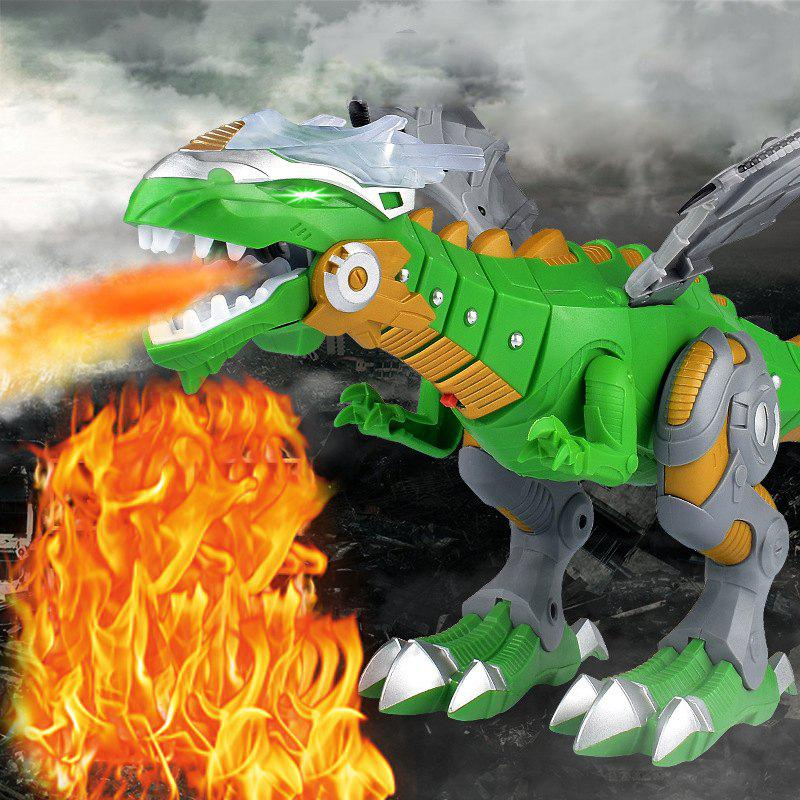 Chic Electric Interactive Spray Fire Simulation Dinosaur Light Sound Talking Toy