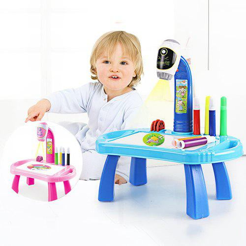 Online Cartoon Smart Projection Painting Toy Set for Children