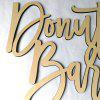JM00320 Donut Bar Wooden Wedding Sign Decoration -