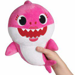 Creative Singing Shark Shaped Plush Toy -