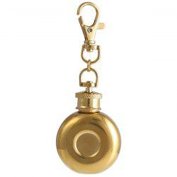 Portable Stainless Steel Hip Flask Keychain -
