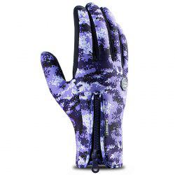 Outdoor Riding Waterproof Windproof Camouflage Gloves -