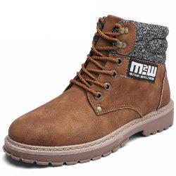 Leather Boots British Tooling Retro Tide Shoes -