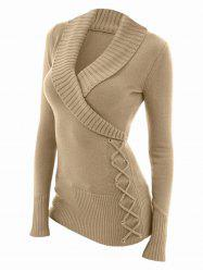 Fashion Women's V-neck Sweater -