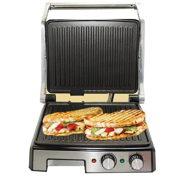 Household Adjustable Temperature Panini Sandwich Machine Barbecue Stove Barbecue Steak Machine Grilled Electric Baking Pan