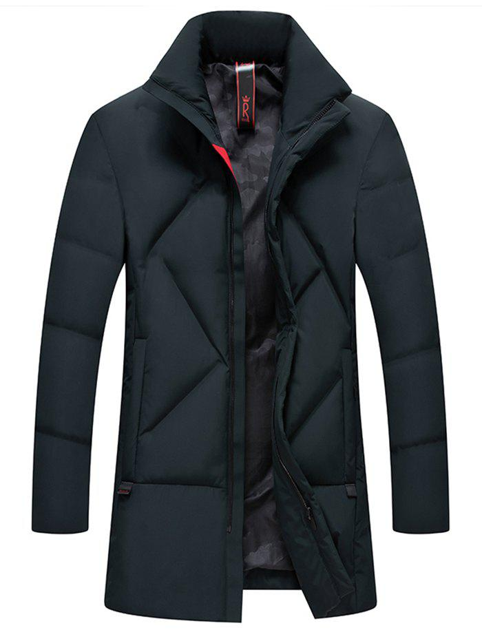 Buy Simple Creative  Men's Long Thick Coat