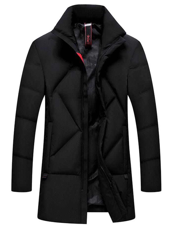 New Simple Creative  Men's Long Thick Coat