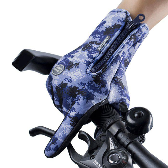 Fancy Outdoor Riding Waterproof Windproof Camouflage Gloves