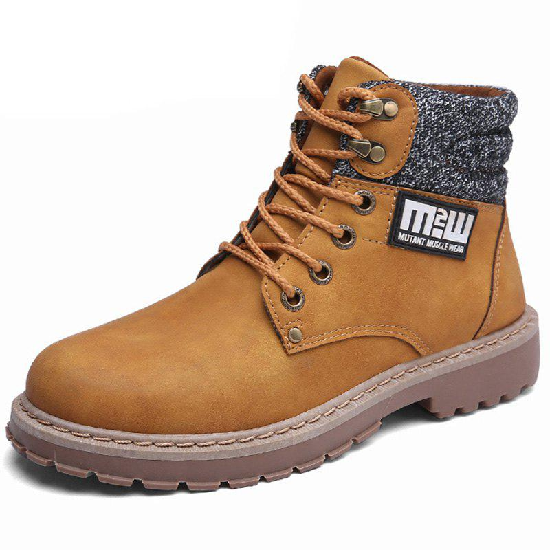 Shop Leather Boots British Tooling Retro Tide Shoes