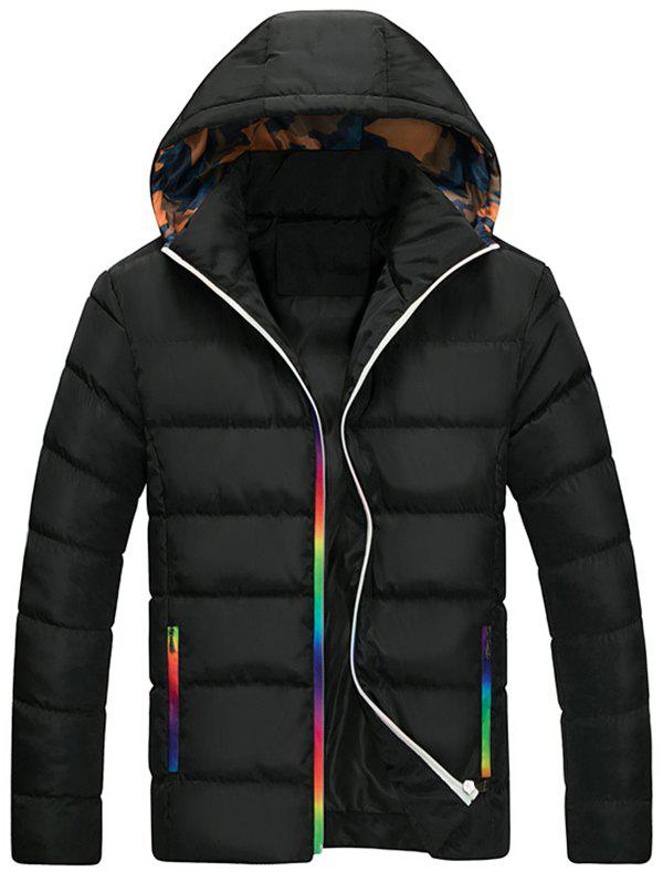 Store Men's Casual Hooded Padded Coat