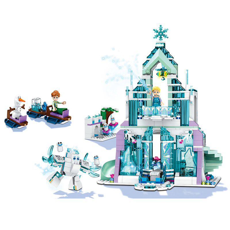 Affordable Children's Educational Magic Ice Castle Assembled Blocks Toy