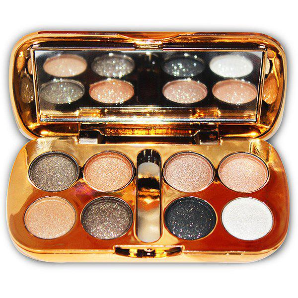 Buy Eight-color Pearly Eyeshadow Diamond Flashes To The Ground, Smoked Makeup, Nude Makeup, Super Shiny