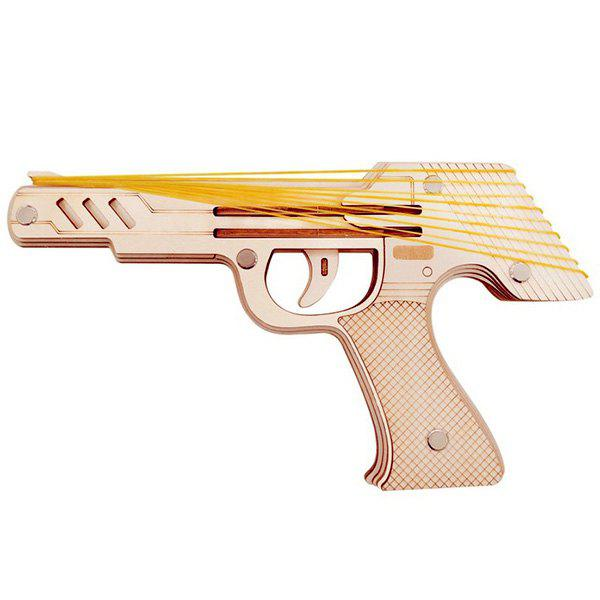 Buy Rubber Band Pistol Model Laser Cutting DIY 3D Puzzle Intelligent Toy for Children