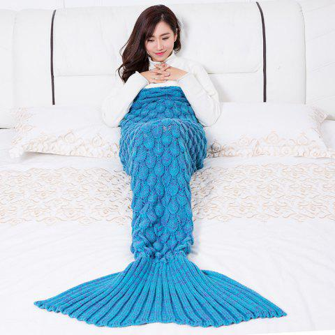 Mermaid Blanket Fish Scale Knitted Mermaid Tail Blanket for Children