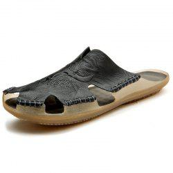 Large Size Fashion Leather Beach Shoes Tide Slippers -