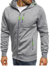 Men's Sports Fitness Casual Jacquard Hoodie -