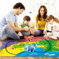 777 - 613 Induction Discoloration Dinosaur Follow Line Toy for Children -