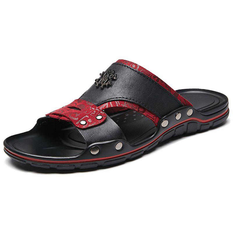 Cheap Men's Leather Slippers Beach Shoes