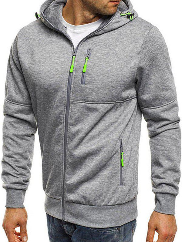 New Men's Sports Fitness Casual Jacquard Hoodie