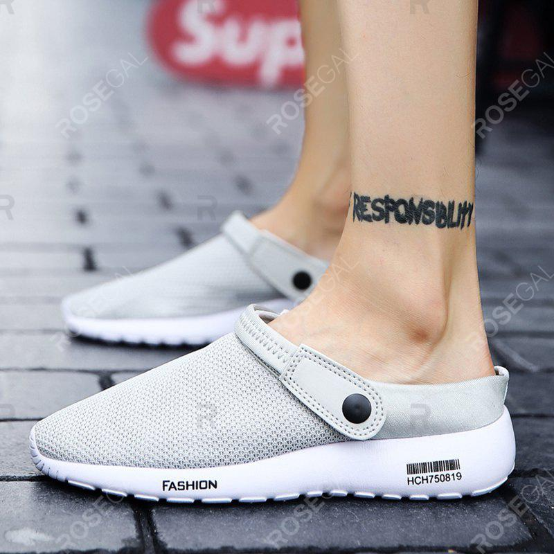 Store Men's Fashion Breathable Mesh Cloth Two Sandals Slippers