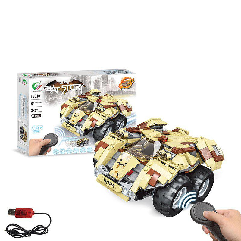 Sale 13020 13030 DIY Electric-bat Car 384PCS 2.4G Four-way Remote Control Assembling Blocks