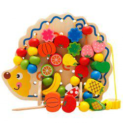 Children Puzzle Hedgehog String Beads Garden Digital Fruit Cognitive Toys 82pcs -