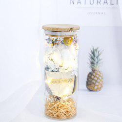 Flower Bouquet Glass Lamp Gift Valentine's Day Birthday Star Rose Home Decoration -