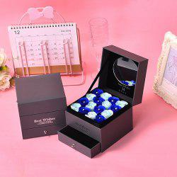 h81 Valentine's Day Gifts Romantic Practical Double Drawer Flower Box -
