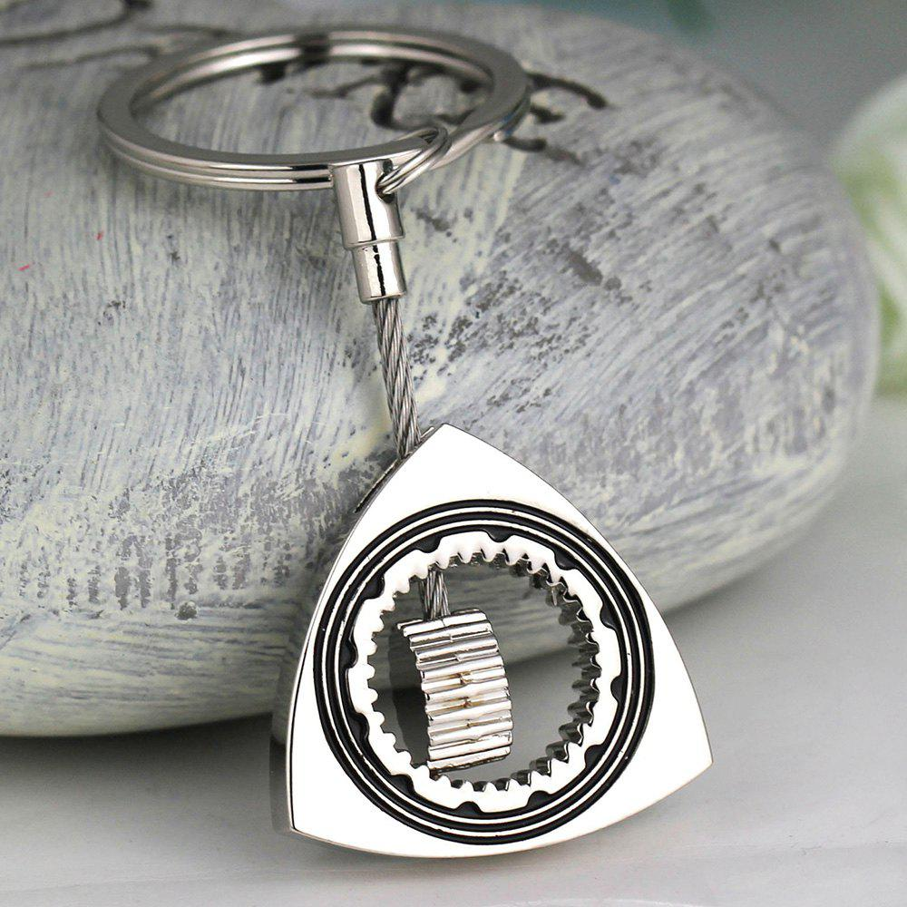 Unique Alloy Rotor Engine Parts Keychain
