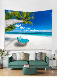 Beach Palm Tree Print Tapestry Wall Hanging Art Decoration -