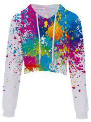 Digital Printing Fashion Trend Ladies Umbilical Hoodie -