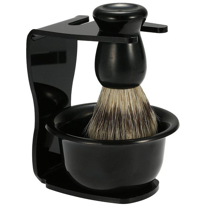 Cheap Men High-grade Manual Beard Razor Brush Holder Set