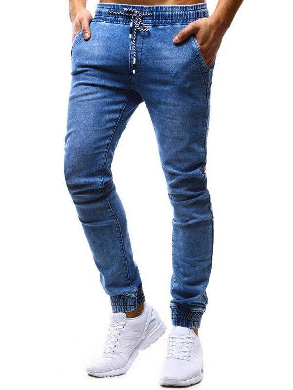 Fashion K99 Men's Pants Classic Loose Tether Elastic Casual Jeans