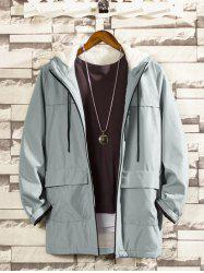 Vintage Hooded Men's Casual Workwear Jacket -