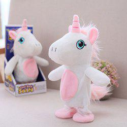Electric Talking Walking Recording Unicorn Cute Intelligent Small Donkey Plush Children Toy -
