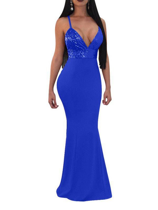 Best SYWT 254 Female Sequined Stitching Elegant Sexy Dress