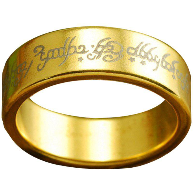 Chic Golden Pattern Magnetic Magic Ring Magic Props