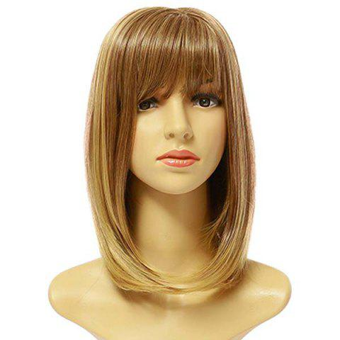 Female Fashion Pick Color Long Synthetic Wig